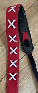 Leather Graft Tribute To Floyd Guitar Strap Red Ltd Edition