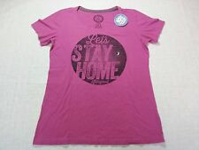 """Life is Good Women's Tee """"Let's Stay home"""" in Pink - Medium - NWT R$32.00"""