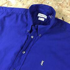 XL 90s Royal Blue Vintage Yves Saint Laurent Shirt