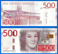 Sweden 500 Kronor 2016 Sveriges Birgit Nilsson Europe Free Shipping Worldwide