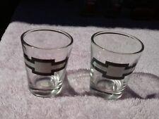 Set of 2 Chevrolet Bowtie Emblem Shot Glasses