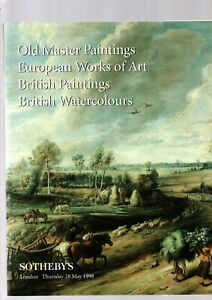 OLD MASTER PAINTINGS ETC SOTHEBYS AUCTION CATALOGUE LONDON 28TH MAY 1998 EX
