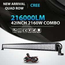 Quad Row 42inch 2160W LED Light Bar Combo Offroad Jeep Ford Truck ATV Fog 40/50""