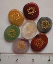 Chakra Stone Set, Engraved Natural Stones sc825c