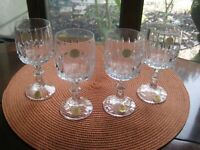 Set of 4 Schott-Zwiesel Crystal Sherry Glasses Tango Pattern 5 1/2'' Tall New