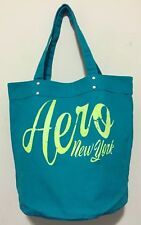 Aeropostale Authentic Turquoise Bag Shopper Tote Canvas Retail $39.5 NWT