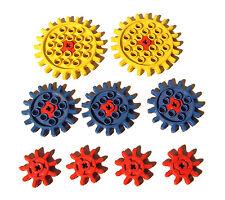 Lego® Gears alte Zahnräder gelb blau rot 800 801 802 810 812