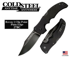 """Cold Steel 4"""" Folding Knife Recon 1 Clip Point CPM S35VN Steel Tri-AD Lock 27BC"""