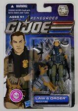 GI JOE RENEGADES LAW & ORDER POLICE FIGURE/DOG 2011