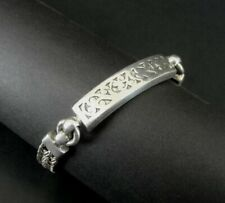 Lois Hill Bracelet Silver Sterling 925 Woven Scroll Toggle Clasp 7.5 Inch Long