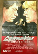 NYCC 2019 IDW Cobra Kai Karate Kid 2 Sided Folded Promo Poster 11x17 Swag