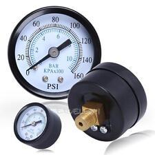 "Air Compressor Pressure/Hydraulic Gauge 1.5"" Face Back Mount 1/8"" NPT 0-160 PSI"