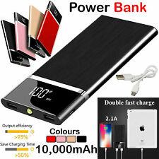 Banco de Alimentación Portátil 10000mAh Doble USB Cargador De Batería Externa de Respaldo para teléfono