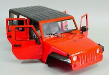 1/10 Scale Truck Body Shell JEEP WRANGLER RUBICON 4 Door Hard Body RED