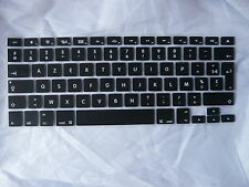 Black French Silicone UK/EU Keyboard Cover Skin For Macbook Pro 13 15 17