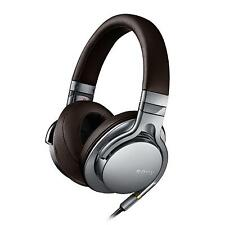 Sony MDR-1AS Premium High-Resolution Prestige Overhead Headphones - Silver/Brown
