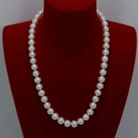 """25 inch AAA 9-8 mm white South Sea pearl Necklace 14K Yellow Gold clasp 18 """" 20"""""""