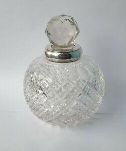HUGE SAMPSON MORDAN ANTIQUE SILVER HOBNAIL PERFUME SCENT BOTTLE London 1894