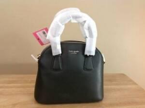 Kate Spade Sylvia Medium Crossgrain Leather Satchel Handbag Evergreen Gold NWT