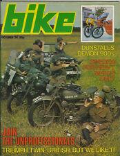 Bike Oct 1974  Dunstall Kawasaki Z900 Honda CB900 CB125S BSA B40