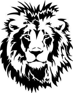 LARGE car bonnet sticker decal vinyl lion head tribal tiger side wall art boat