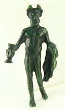 ! Authentic I-Iii Ad Roman Bronze Figurine of Hercules Holding Nemean Lion Head