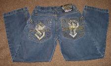 SOUTHPOLE Metal Thunder Denim Jeans - Measures 29 x 30 - Cotton- Live In Concert