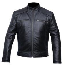 Men 100% Genuine lamb skin Leather Biker Jacket Biker Leather jacket