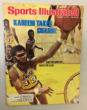 """Sports illustrated February 14, 1977 """"Kareem Takes Charge""""  LAKERS"""