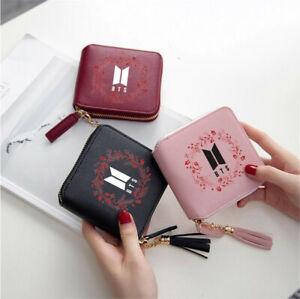 Kpop BTS Bangtan Boys Wallet V JIMIN JUNGKOOK Purse Portable Card Bag Ku