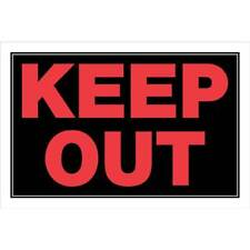 """Keep Out - Flexible Plastic Sign - 12"""" x 8""""  Brand New"""