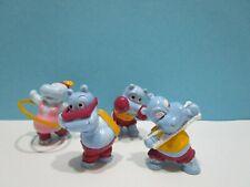 Auswahl Einzelfigur Happy Hippos im Fitnessfieber 1990 100% Original