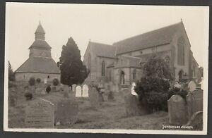 Postcard Pembridge Church nr Eardisland Herefordshire clock readable graves RP