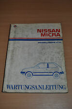 Werkstatthandbuch Wartungsanleitung Nissan Micra K10 Motor Bremsen Karosserie