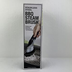 Protocol Stainless Steel BBQ Steam Brush Outdoor Grill Cleaning Brush NIB