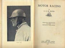Motor Racing by Sammy Davis - 1932 book Brooklands Le Mans Tourist Trophy