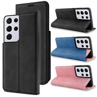 For Samsung Galaxy S21/S21+/Ultra Case Leather Flip Wallet Card Slot Stand Cover