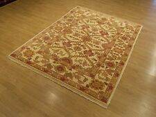 4.5 x 6 Hand Knotted Natural Vegetable Dye Hand Spun Wool Afghan Sultanabad Rug