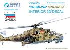 Quinta QD48155 1/48 Mi-24P 3D-Printed  coloured Interior for Zvezda kit