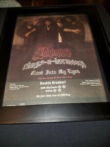 Bone Thugs N Harmony Look Into My Eyes Rare Radio Promo Poster Ad Framed!