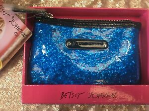 NWT Betsey Johnson Top Zip Glitteratzzi Purse/Wallet Made For Macy's MSRP $38
