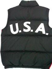 Polo Ralph Lauren TEAM USA Down Puffer Ski Vest Big Pony Navy Blue Boys LG 14 16