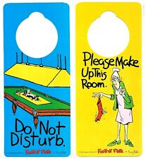 DO NOT DISTURB -PLEASE MAKE UP THIS ROOM - Door hanger room SIGN - DOG SNOOKER