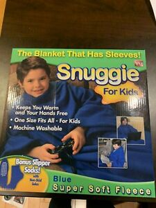 Snuggie for Kids, Blue Super Soft Fleece - As Seen On TV- GREAT CHRISTMAS GIFT