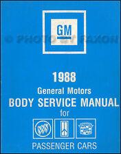 1988 Oldsmobile Body Shop Manual 88 98 Ciera Supreme Cutlass Toronado Olds
