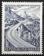 Austria 1971 MNH -Transport Inauguration Brenner Autobahn Motorway Europa Bridge