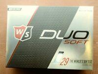 NEW Wilson Staff DUO Soft Golf Balls - White