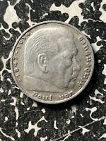1 Coin Only Silver! 5 Available 1936-D Germany 5 Mark Circulated