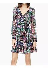 NWT Kate Spade Metallic Silk Multi Dot Mini Dress Cocktail, Long Sleeve Size 4