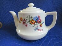 VINTAGE ENTERPRISE ALUMINUM DRIP-O-LATOR KITCHEN FLORAL Tea POT